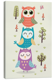 Canvas print  Three owls - Kidz Collection