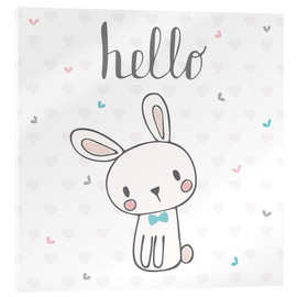 Acrylic print  Hello Bunny - Kidz Collection