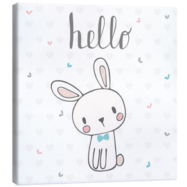 Canvas print  Hello Bunny - Kidz Collection
