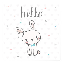 Premium poster  Hello Bunny - Kidz Collection