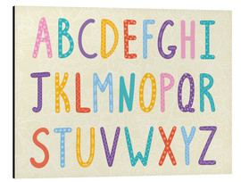 Aluminium print  Colorful ABC letters - Typobox