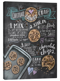 Canvas print  Chocolate chip cookies recipe. - Lily & Val