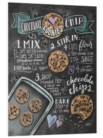 Foam board print  Chocolate chip cookies recipe. - Lily & Val