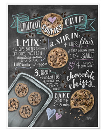 Premium poster  Chocolate chip cookies recipe. - Lily & Val