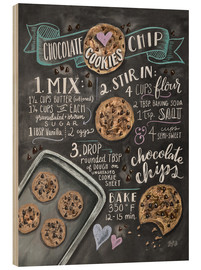 Wood print  Chocolate chip cookies recipe. - Lily & Val