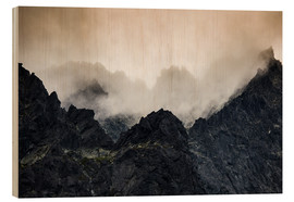 Wood print  Mist - High Tatras - Mikolaj Gospodarek