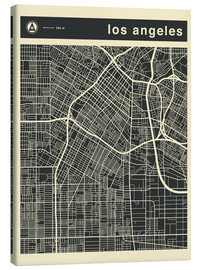 Canvas print  Los Angeles City map - Jazzberry Blue