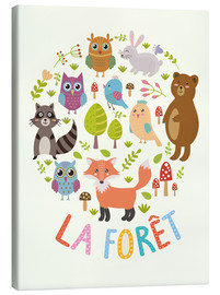Canvas print  The Forest (French) - Kidz Collection