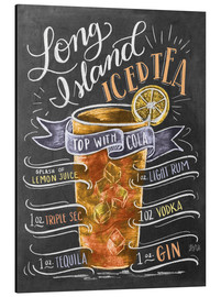 Aluminium print  Long Island Ice Tea recipe - Lily & Val