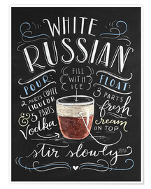 Premium poster  white russian - Lily & Val