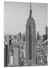 Foam board print  New York City aerial skyline