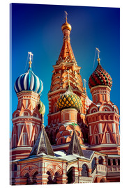 Acrylic print  St. Basil's Cathedral, Russia