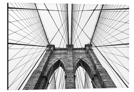 Aluminium print  Brooklyn bridge
