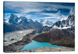 Canvas print  Mountains with lake in the Himalayas, Nepal
