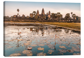 Canvas print  Angkor Wat at sunset