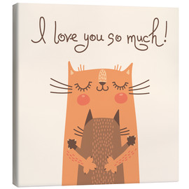 Canvas print  Cats love - Kidz Collection