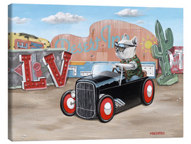 Canvas print  Las Vegas Hot Rod Frenchie - Macsorro