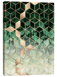 Canvas print  Leaves and cubes - Elisabeth Fredriksson