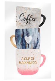 Acrylic print  A cup of happiness - Elisabeth Fredriksson