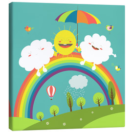 Canvas print  Friendly weather - Kidz Collection