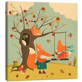 Canvas print  Swingin' in the autumn wind - Kidz Collection