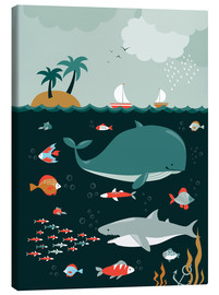 Canvas print  The world under water - Kidz Collection