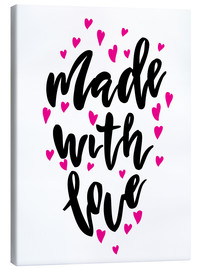 Canvas print  Made with love - Typobox