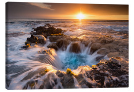 Canvas print  Pools of Paradise during Sunset at the Coast of Hawaii (Big Island) - Markus Ulrich