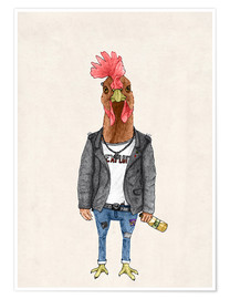 Premium poster  Punk Rooster - Barruf