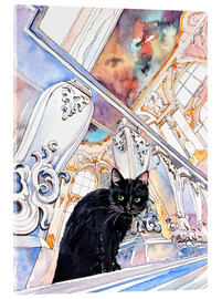 Acrylic print  Cat in the Hermitage, Saint-Petersburg - Anastasia Mamoshina