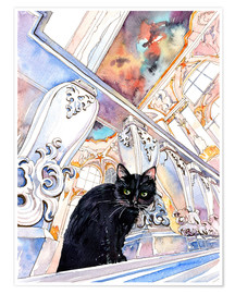 Premium poster  Cat in the Hermitage, Saint-Petersburg - Anastasia Mamoshina