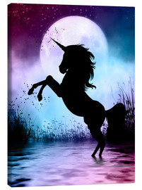 Canvas print  Unicorn Magic - Dolphins DreamDesign