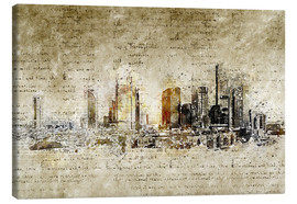 Canvas print  Frankfurt skyline abstract vintage - Michael artefacti