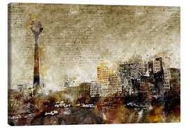 Canvas print  Düsseldorf modern and abstract - Michael artefacti