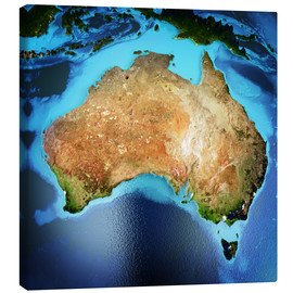 Canvas print  Australia from space, NASA