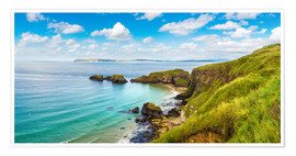 Premium poster  Coast of Northern Ireland on a beautiful summer day