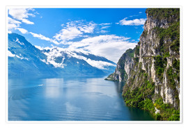 Premium poster  Summer view over of lake Garda in Italy