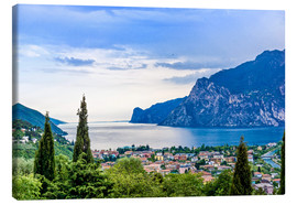 Canvas print  View of Riva Del Garda and Lake Garda, Italy