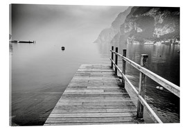 Acrylic print  Wooden bridge on Lake Garda, Italy
