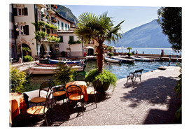 Acrylic print  Small café in Limone, Lake Garda