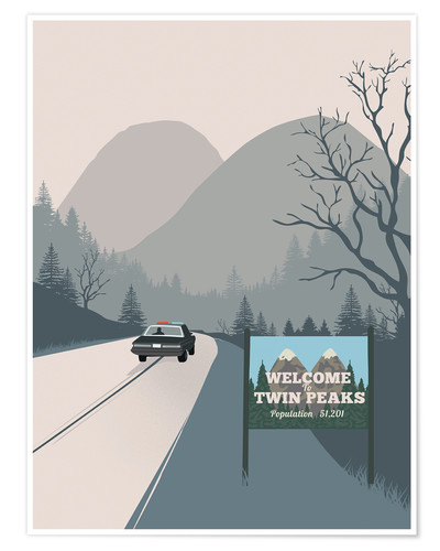 Premium poster Welcome to Twin Peaks