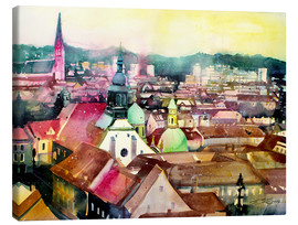 Canvas print  Graz, view to the cathedral - Johann Pickl