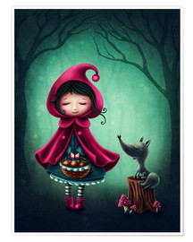 Premium poster Little red riding hood and the wolf