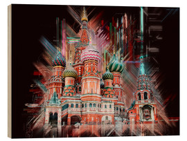 Wood print  Moscow Basilica Cathedral - Peter Roder