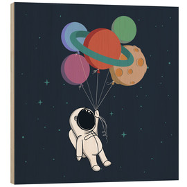 Wood print  Space journey - Kidz Collection