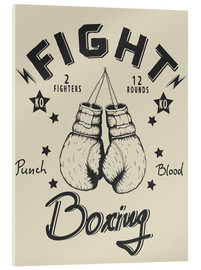 Acrylic print  Fight - Boxing