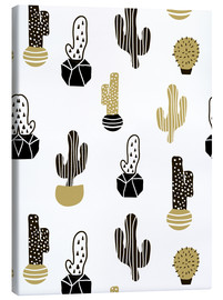 Canvas print  Cacti pattern
