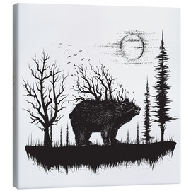 Canvas print  Wilderness wandering - Kidz Collection