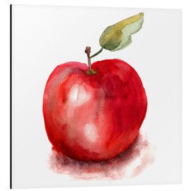 Aluminium print  Sweet apple watercolor