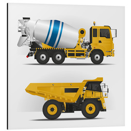 Aluminium print  Construction sites vehicles - Kidz Collection